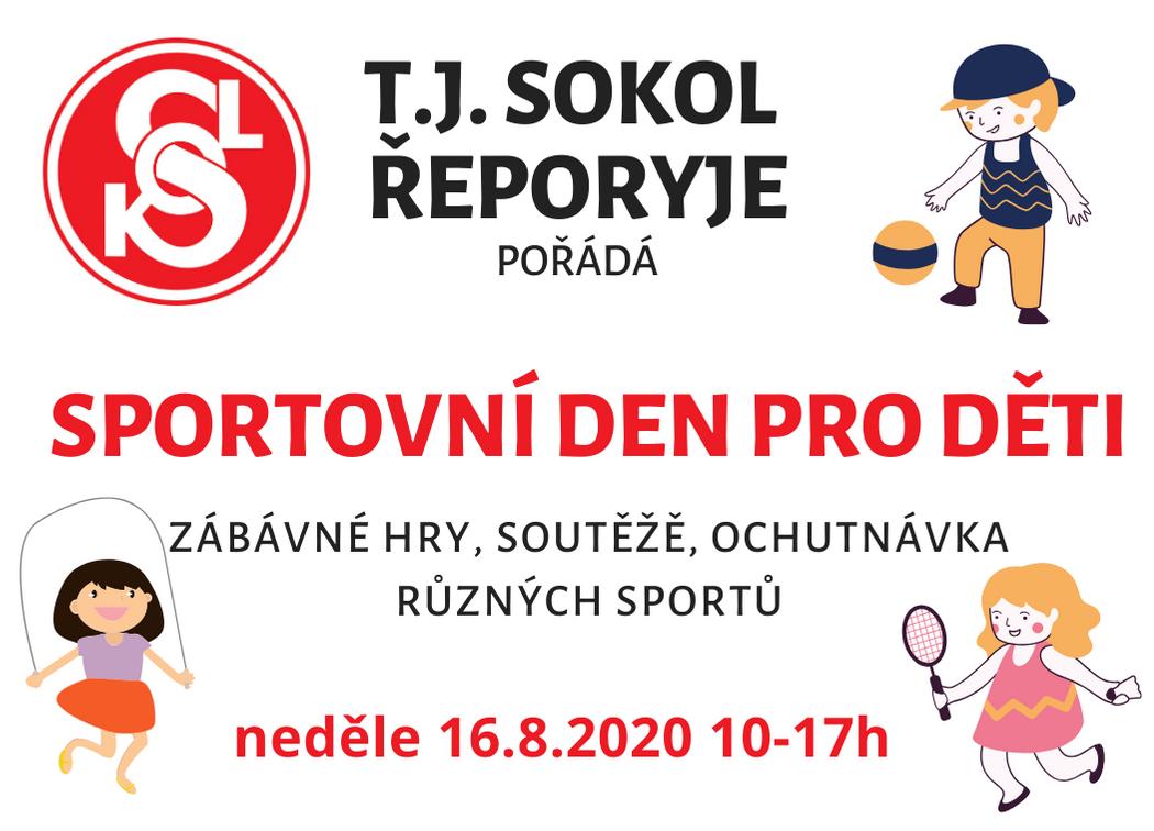 16. srpen 2020 – Sportovní den pro děti